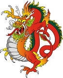 Dragon illustration Stock Photography
