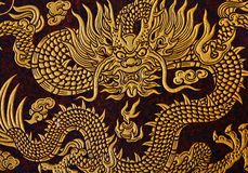 Dragon Image. Chinese art in Chinese temple Royalty Free Stock Images