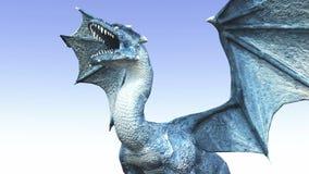 Dragon. Image of a flying dragon vector illustration