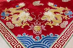 Dragon Image On The Carpet Stock Images
