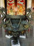 Dragon incense burner Royalty Free Stock Images