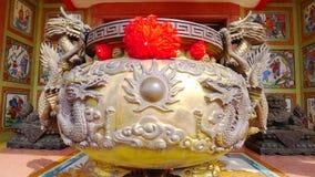Dragon incense burner. Shrine for Nezha 's Tai Tzu at Chon Buri province thailand Stock Image
