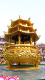 Dragon incense burner. Shrine public name Nezha 's Tai Tzu at Chon Buri province thailand Stock Photo