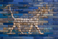 Dragon from Ishtar Gate of Babylon, constructed in about 575 BC Stock Images