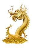 Dragon Isolated su bianco, con il percorso di ritaglio Fotografia Stock Libera da Diritti