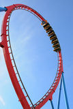 The Dragon Khan, a famous roller coaster of the Port Aventura theme park Stock Photo