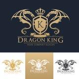 Dragon King Logo mall Arkivfoto