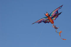 Dragon Kite in Blue Sky Stock Photo