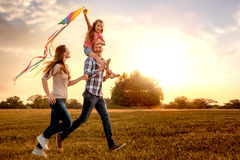 Dragon kite family stock images