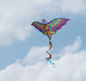Dragon kite soaring Stock Image