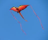 Dragon kite with streamers Royalty Free Stock Photos