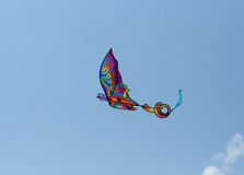 Dragon kite with tail Royalty Free Stock Photos