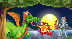 Dragon and knight Royalty Free Stock Photography