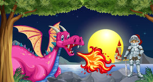 Dragon and knight Royalty Free Stock Image