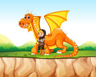 Dragon and knight Royalty Free Stock Photo