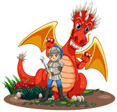 Dragon knight Royalty Free Stock Image