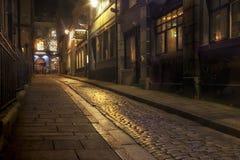 Dragon Lane vert la nuit Images libres de droits