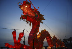 Dragon Lantern. Festival in Malacca Stock Photography