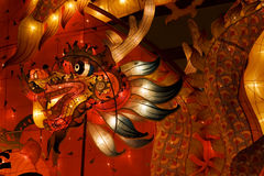 Dragon Lantern for a celebration. A dragon lantern used for a display for the celebration of Chinese New Year. The dragon is very symbolic to the Chinese stock image
