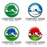 Dragon Leaf Concept Logo Fotografía de archivo