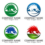 Dragon Leaf Concept Logo Stock Photography