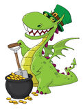 Dragon Leprechaun. Illustration of a dragon Leprechaun Royalty Free Stock Photo