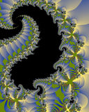 Dragon lights. Abstract fractal dragon or serpent form with diffused lights Stock Image
