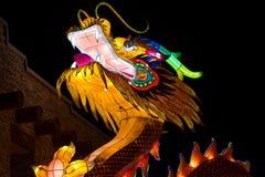 Dragon Lights Albuquerque, Dragon Lantern de seda uma arte tradicional chinesa comemora o ano novo chinês fotografia de stock