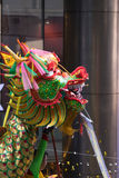 Dragon and lion dance Stock Images