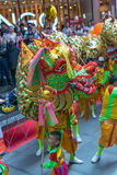 Dragon and lion dance Royalty Free Stock Photo