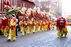 Dragon & Lion Dances Stock Photography