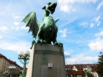 Dragon of Ljubljana Stock Photos