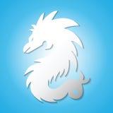 Dragon Logo Fotografering för Bildbyråer