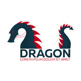 Dragon logo. Chinese dragon. Vector flat illustration. Stock Photos