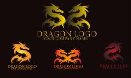 Dragon logo design.Monster mythology Royalty Free Stock Photo