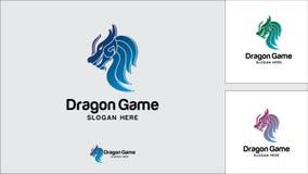 Dragon logo design template, Vector illustration, Game Logo. Evil, Monster, Game Royalty Free Stock Images
