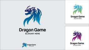 Dragon logo design template, Vector illustration, Game Logo. Evil, Monster, Game Royalty Free Stock Photos
