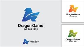 Dragon logo design template, Vector illustration, Game Logo. Evil, Monster Royalty Free Stock Image