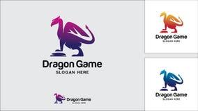Dragon logo design template, Vector illustration, Game Logo. Evil, Monster, Game Stock Images