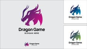 Dragon logo design template, Vector illustration, Game Logo. Evil, Monster, Game Stock Photography