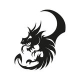 Dragon logo vector Royalty Free Stock Images