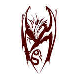 Dragon logo vectors Royalty Free Stock Images