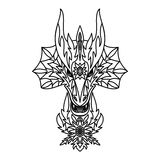 Dragon Logotype Stockbild