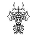 Dragon Logotype Stock Image