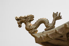Dragon on loof China temple Royalty Free Stock Photography