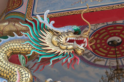 Dragon on roof in China temple Stock Photography