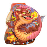 Dragon of the lord of vaults and jewels Royalty Free Stock Image