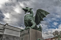 Dragon in Lubiana stock photography