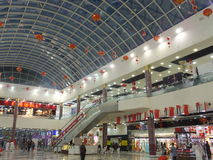 Dragon Mart in Dubai, UAE. The 1.2 km-long Dragon Mart is the largest trading center for Chinese products outside mainland China Royalty Free Stock Images
