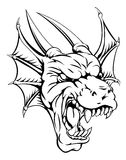 Dragon mascot. An illustration of a mean looking dragon mascot roaring Stock Photography